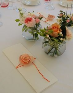 #wedding #menù #paperflowers #roses