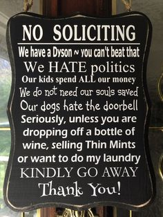 Please Do Not Knock Or Ring The Doorbell Responsive Dogs