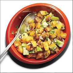 Grilled Pineapple Avocado Salsa