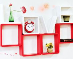 Espelho porta joias de cho quartos pinterest fill your home with love grab a set of love wall mounted shelves from gumiabroncs Images