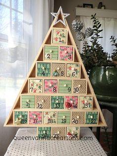 Handmade Wooden Christmas Tree Advent Calendar - 2014 | Flickr