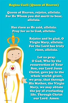 Happy Saints Prayer Posters: Happy Saints Regina Caeli Prayer Poster, $5.00 from MagCloud