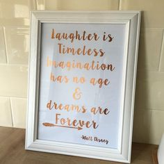Disney Quote Print  Copper Foil Print  Home by SweetLittleGemss