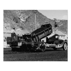 Asphalt Truck Vintage Photograph 1936 Print from Zazzle.