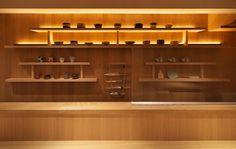 Japanese Restaurant Interior, Restaurant Interior Design, Sushi Ya, Sushi Bar Design, Sushi Restaurants, Wine Rack, Liquor Cabinet, Storage, Furniture