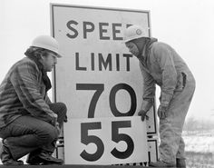 1974 - speed limit lowered to 55 mph - I can't drive 55!