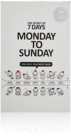 [Monday To Sunday] One Week Treatment Sheet Mask 7pcs pac...