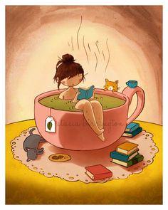 Cozy  Tea Bath!  Stasia Burrington