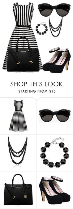 """""""Titled #5"""" by trickyknowitall ❤ liked on Polyvore featuring Rumour London, Yves Saint Laurent, Bling Jewelry, 2028 and MICHAEL Michael Kors"""