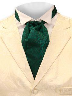 Silk Puff Tie - Hunter Green