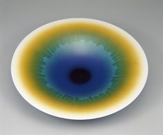 """Creation,"" 1992, Tokuda Yasokichi, (1933-2009), Porcelain with polychrome enamel glazes, H: 8.8 W: 54.8 D: 54.8 cm, Komatsu City, Ishikawa prefecture, Japan, Arthur M. Sackler Gallery, Gift of the Japan Foundation- S1993.13"