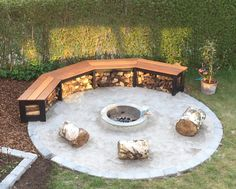 Fire-pit Suggestions -- a book Comfy fire or perhaps even a popular may be the leisure. Yet nowadays, it's advised to get fire-pit on the backyard area. The landscaping style option confirms an outdoor fire area could offer similar encounter or more. Outdoor Fire, Outdoor Seating, Outdoor Decor, Outdoor Living, Landscape Design, Garden Design, Creative Landscape, Landscape Architecture, Concrete Fire Pits
