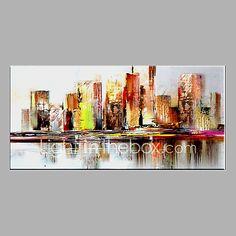 Pintada a mano Abstracto Pinturas de óleo,Modern Un Panel Lienzos Pintura al óleo pintada a colgar For Decoración hogareña 2017 - $1428.96