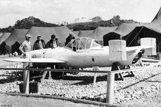 Captured MXY7 Ohka Model 11 aircraft, Okinawa, Japan, date unknown