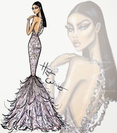 #Hayden Williams Fashion Illustrations: #Red Carpet Glam: 'Champagne Dreams' by Hayden Williams