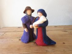 Weihnachtsfiguren - Heilige Familie - ein Designerstück von Waschbrett bei DaWanda