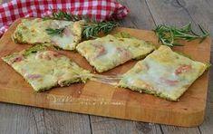 schiacciata di zucchine con mozzarella e cotto