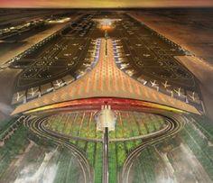 Beijing International Airport Rings with Olympian Splendor