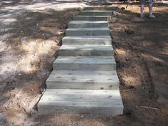 Photo gallery of steps created by Ethan Poulin Landscaping. How To Build Steps, Garden Stairs, Stepping Stones, Paths, Photo Galleries, Landscape, Building, 2 Step, Outdoor Decor