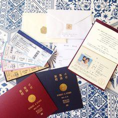 ハクアローズオリジナルの和風パスポート風招待状のご紹介です。 お客様のご要望からできあがったリアル感を追求したパスポート風招待状で、これからの旅立ちを迎えるお二人にはピッタリな招待状です。 濃色の用紙に映える金箔がなんともいえない豪華さとワクワク感を演出してくれます。カラー印刷の中紙やボーディングパスなどオプションも豊富にご用意!セミオーダーですので世界に一つだけのお二人のご招待状をお作りください!#箔押 #招待状手作り #オリジナルチケット #パスポート風招待状 #箔押し印刷 #箔押し加工#ボーディングパス風 #ブライダル#ぷれ花嫁 #プレ花嫁 #hakuarose#ハクアローズ#ウェディングパスポート風 #和風パスポート風招待状#セミオーダー#招待状作成 #招待状デザイン #招待状選び #招待状セット #招待状印刷 #招待状サンプル#ボーディングパス #箔押印刷#ホットスタンプ#箔押し#海外wedding#招待状サンプル#招待状#⒈5次会#2次会#リゾ婚