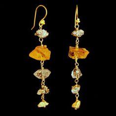 www.parijatarocks.com  citrines in the rough and herkimer diamonds