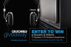 I entered the @Crutchfield Sweeps to win 1 of 10 @bowerswilkins prizes. You can too – #GGGEntry #win