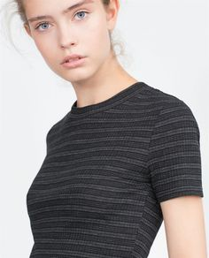 Image 1 of RIBBED CROP TOP from Zara