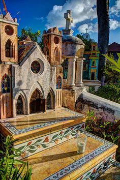 Mexican Cemetery in Xcaret By Philip Kalina