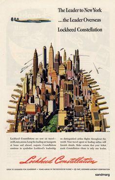 1947 Lockheed Constellation Leader to New York City