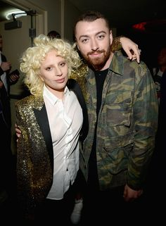 Lady Gaga et Sam Smith au défilé Saint Laurent