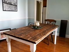 How To Build a Dining Table With Reclaimed Materials | Cabin ...