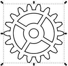 Engranes on gear cog clip art