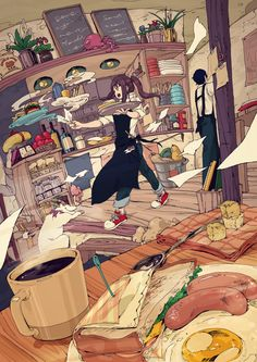 Perfect illustration of a managed tough day Manga Art, Manga Anime, Anime Art, Desu Desu, Image Manga, Anime Kunst, Jolie Photo, Anime Scenery, Illustrations
