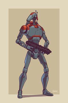 Upgraded B1 Battle Droid by Blazbaros.deviantart.com on @DeviantArt