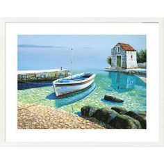 Global Gallery 'Coastal Morning Reflections' by Frane Mlinar Framed Photographic Print Size: