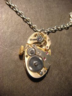 Steampunk Watch Movement Necklace (580)