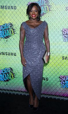 Viola Davis left her all-business HTGAWM gear behind in favor of this glam gown for the premiere.