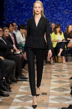 Beautifully tailored suit at Dior