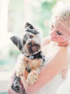 More and more adorable pups in weddings on Style Me Pretty! Michelle March Photography | See more on SMP --  http://www.StyleMePretty.com/florida-weddings/coral-gables/2013/12/03/biltmore-hotel-wedding-by-michelle-march/