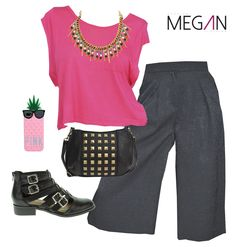 #fashion #fashionmegan24 #pink #culottes #chicas #girl #mujeres