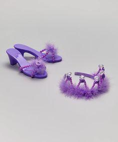Look at this #zulilyfind! Purple Rhinestone Tiara & Shoes - Kids #zulilyfinds