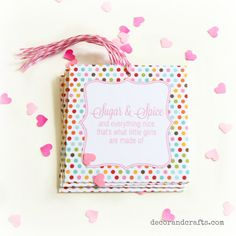 Girl Baby Shower Favor Tag   Sugar and Spice   Book theme baby shower invitation on Etsy now by Decor and Crafts