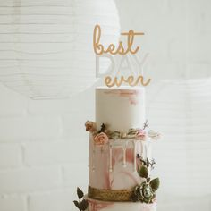 """Make it the """"Best Day Ever"""" with this acrylic cake topper. Paint it with gold to add your own DIY touch!"""