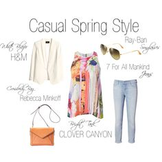 """Casual Spring Style"" by shopeluxe on Polyvore"