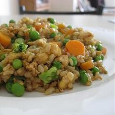 Fried Rice Restaurant Style - Allrecipes.com  Going to try making this on this Sunday.  :-)