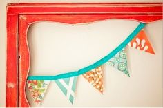 blue and orange bunting