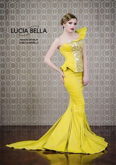 Confident ladies set the tone of elegance and radiate brighter than ever! The Luciabella yellow butterfly dress will attract anyone's attention at once heart emoticon 🌻  Don't forget to follow us also on 👉 Instagram: luciabella_ro  👉 Facebook: Luciabella  #luciabella #hautecouture #silvershade #dresscollection