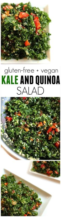 Kale & Quinoa Salad…perfect for weekday lunches! Easy, vegan, gluten-free. Hummusapien.com