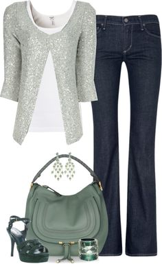 """Shades of Green"" by partywithgatsby on Polyvore"