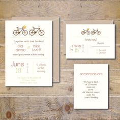 Bicycle Wedding Invitations. Bicycle Wedding Invites by DeanPenn